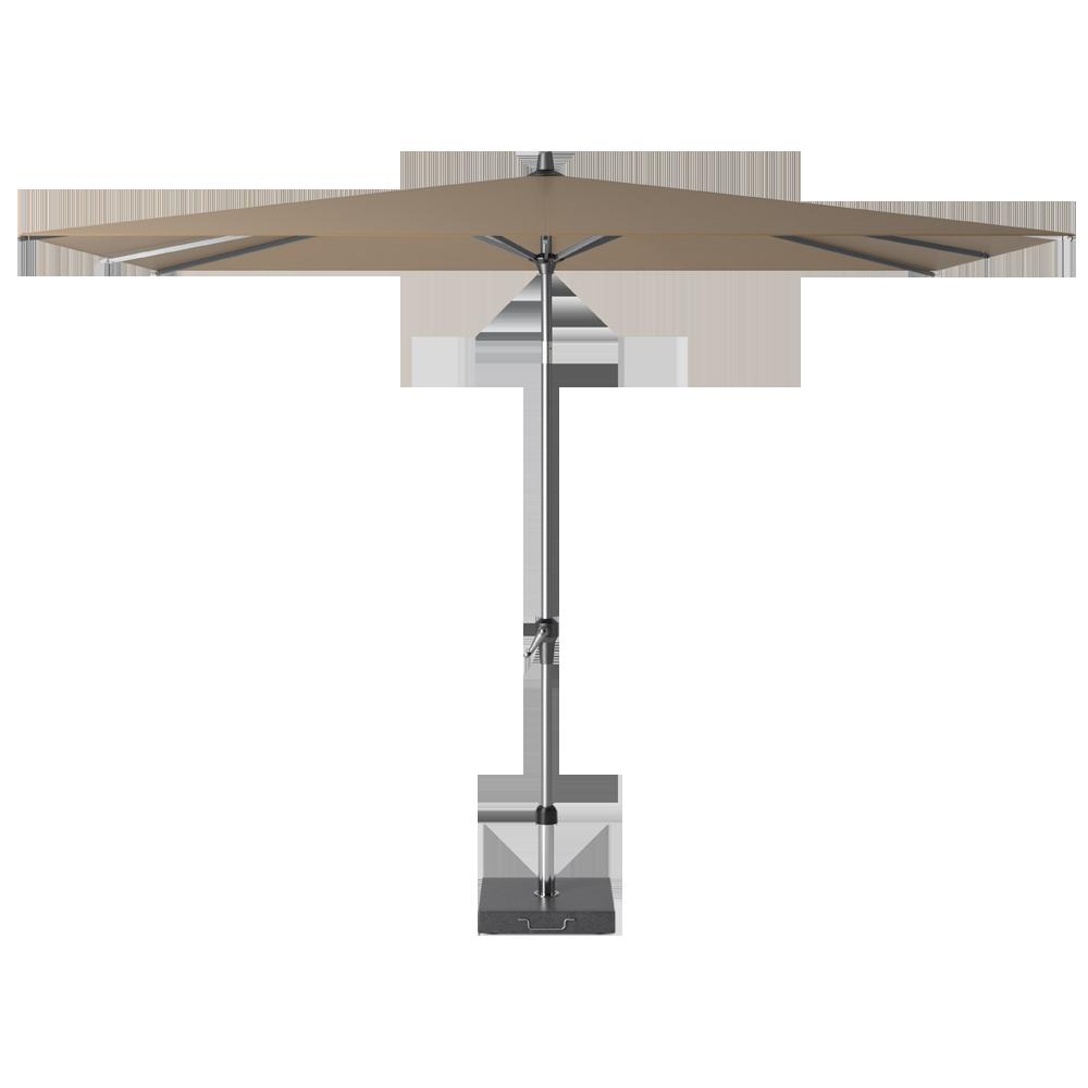 Parasol taupe cheap the levante parasols are bambrellaus for Jardiniere exterieure en aluminium