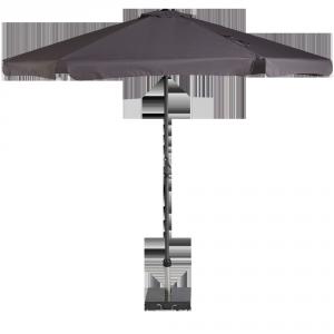 Zwart parasol van het type Antigua.